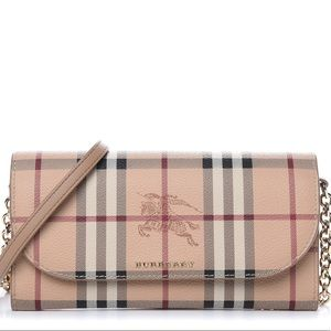 New with Tag Burberry Haymarket Wallet On Chain